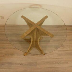 Amazone Rotan Eetkamertafel 100cm Rond Glas