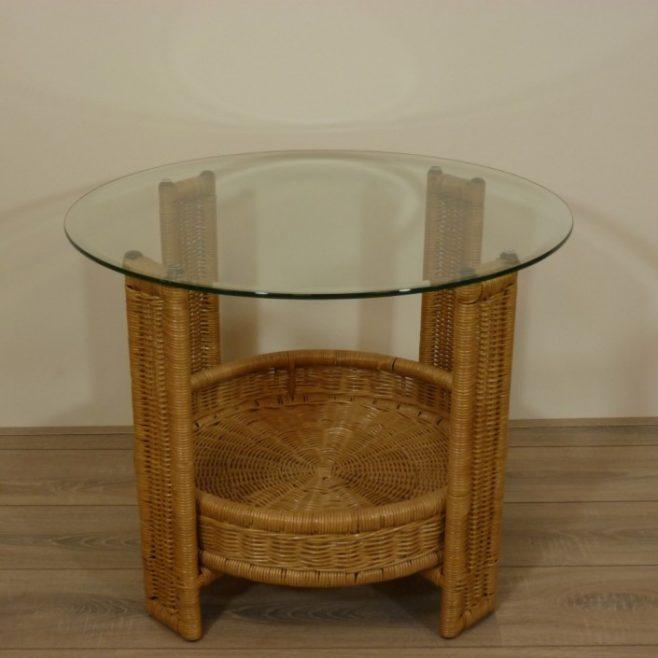 Ronde Glas Tafel.Glasplaat 70 Cm Rond Facet Geslepen Rotanspeciaalzaak Nl