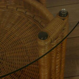 Amazone Tafel Honingkleur 70cm Glas Rotan