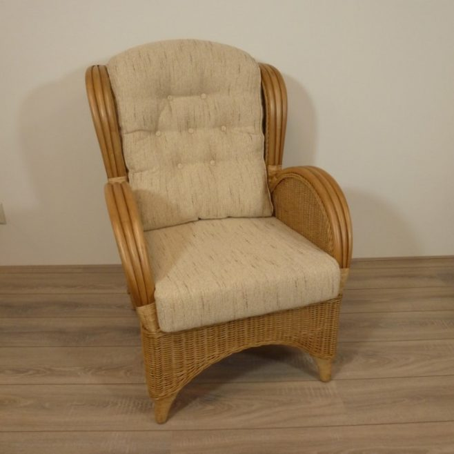 Florida honing rieten fauteuil rotan for Stoel woonkamer
