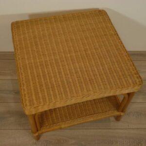 Palermo 60x60 cm Honingkleur Rieten Tafel Rotan