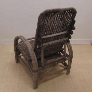 Verstelbare Ligstoel Rotan Grijs