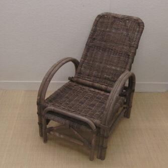 Rotan Ligstoelen Verstelbare Ligstoel Rotan Grijs