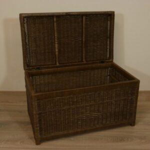 Kisten DarkBrown 70 cm Rieten manden
