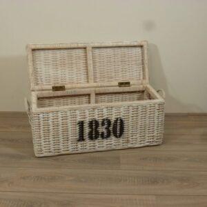 Wit Rotan Kisten Manden Speelgoedmand Set