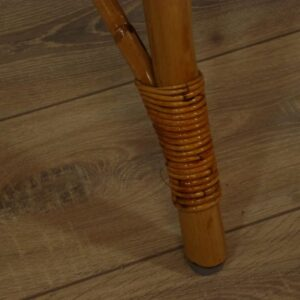 Rotan Terrastafel Driepoot Teak Blad 80 cm 4