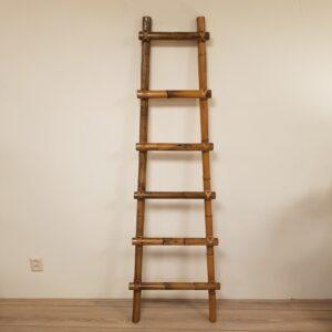 Decoratieve Ladder Rotan Trap 185cm Donker