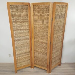 Kamerscherm Teak Rotan Naturel