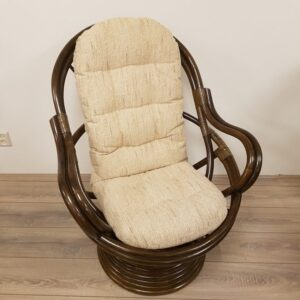 Rotan Draaistoel Manou Met Vering DarkBrown