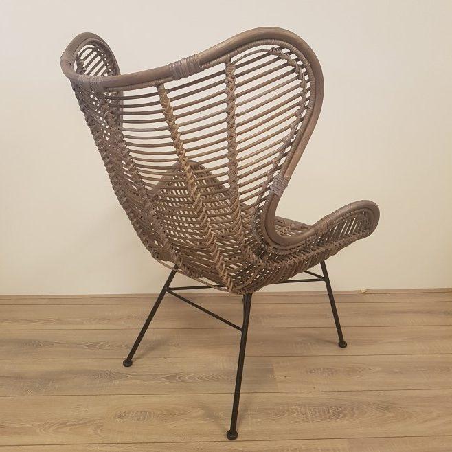 Bergamo Stoel Kubu Grey Rotan Egg Chair