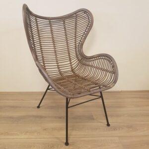 Bergamo Retro Rotan Stoel Riet Spijlen Egg Chair
