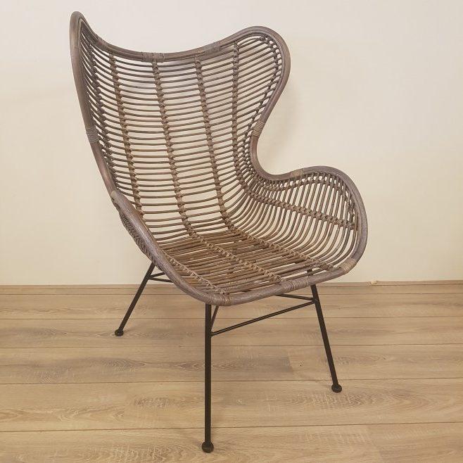 Bergamo stoel kubu grey rotan egg chair for The egg stoel